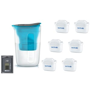 Brita Fill & Enjoy Fun modrá + 6 ks filtru Maxtra Plus